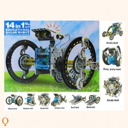 Solar robot speelgoed voertuigen 14 in 1