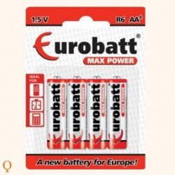 Max Power AA batterijen R6 - 4 stuks