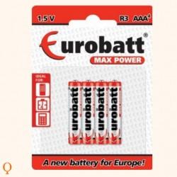 Batterij Max Power AAA R3 - 4 stuks