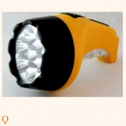 Flashlight 8 LED + 1 LED, solar charger